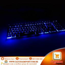 Teclado Gamer Semi Mecanico com led