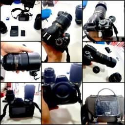 Câmera nikon d3100 + 2 lentes