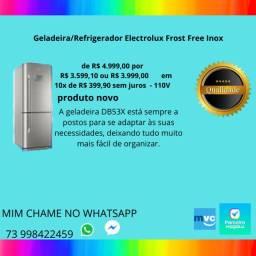 Geladeira/Refrigerador Electrolux Frost Free Inox