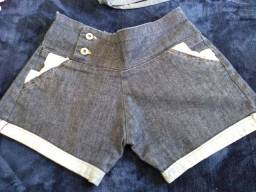 Short jeans 36 com elastano