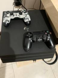 Playstation 4 Pro 4k 2 controles 1 Tb HD