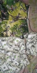 Calções Tactel e carteiras