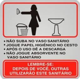Título do anúncio: Placa Sinalizadora Auto-Adesiva Procedimento Sanitário Feminino 12x12cm Sinalize