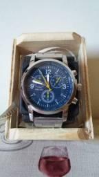 Lindo Relógio de Aço Inoxidável - Azul