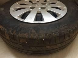Rodas e pneus aro 14 - 4furos 2 pneus 70 % 2 pneus 60 % whats app : *