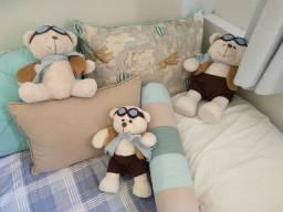 Conjunto de ursos de pelúcia aviadores (3 ursos)