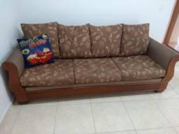 Sofá modelo antigo com molas e espumas muito confortável