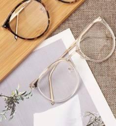 Armação de óculos grau vintage unissex