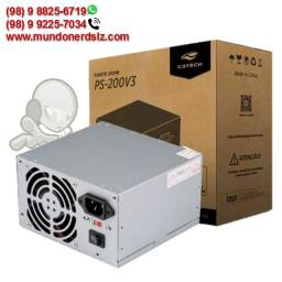 Fonte Atx 200W (sem cabo) C3Tech PS-200V3 em São Luís Ma