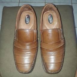 Sapato Antistress Pé Firme Dia-a-dia Em Mestiço, Forrado Couro N° 42