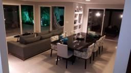 Mesa madeira tampo vidro com 8 cadeiras seminova 2.60 x 1.20