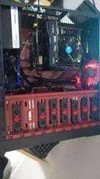 Pc gamer i5-6600/8gb ddr4/ SSD 480/ rx460 4gb / fonte thermaltake 600w 80plus