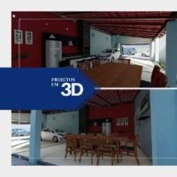 Projetos 3D e Renderizações