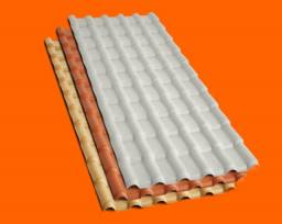 Telha de Pvc Precon na cor Ceramica ou Marfim - Pronta entrega- parcelamos