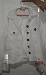 Jaqueta Jeans Branca Vintage