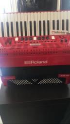 Acordeon Roland FR4X zerado na caixa