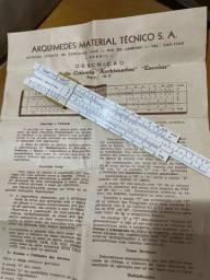 Raridade Régua de cálculo Arquimedes