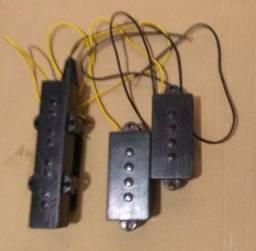Captadores PJ, de baixo, 4 cordas