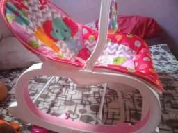 Cadeira musical vibratoria rosa