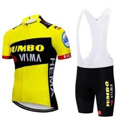 Conjunto de roupa para ciclismo masculino novas com gel no bretele