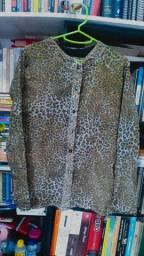 Blusa de seda Animal Print