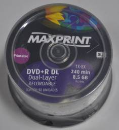 50 Dvd+r 8.5gb Dual-layer Maxprint Printable