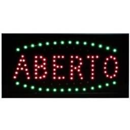 Título do anúncio: Placa Letreiro Painel Luminoso Led Aberto