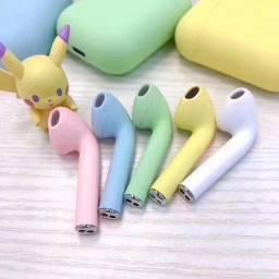 Fone de ouvido sem fio i12 ipods coloridos