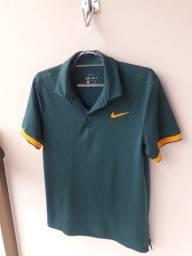 Camisa Polo Nike Court Verde com Laranja