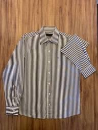 Camisa Masculina Pierre Cardin Tam. M 39/40 Slim Fit Legítima