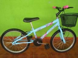 Bicicleta feminina aro 20 semi nova
