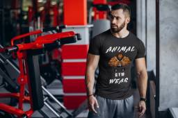 Camiseta T-shirt Animal Gym Lion Masculina Original Nova