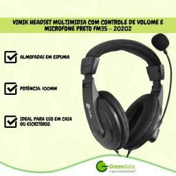 Fone de Ouvido Headset Multimídia Vinik