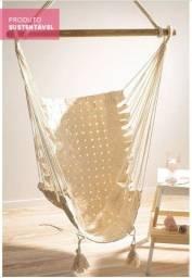 Rede cadeira trama fita cru + Extensor e gancho para teto