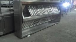 Coifas em inox para exaustão de cozinha, exaustor centrífugo