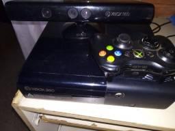 Xbox completo com controle e Kinect