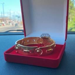 Título do anúncio: Bracelete prata banhado a ouro18k