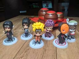 Kit Naruto Shippuden Chibi 6 peças action figure NOVO!