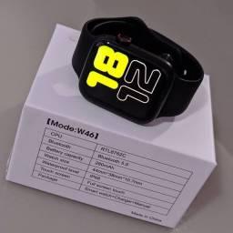 Smartwatch W46 + pulseira de metal