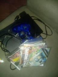 Playstation 2 usado 2 meses. 2 controles e 10 jogos