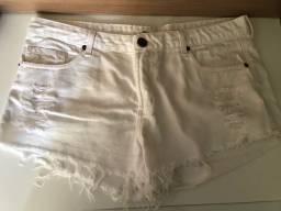Shorts jeans brancos