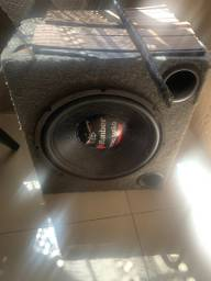 Caixa alto falante 15 bixo papão bobina queimada