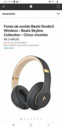 <br><br>Fones de ouvido Beats Studio3 Wireless ? Beats Skyline Collection ? Cinza-chumbo