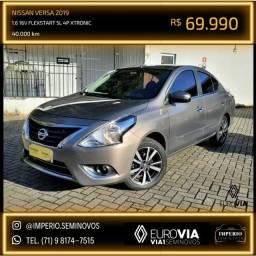 Título do anúncio: Nissan Versa 1.6 16V FlexStart SL 4P Xtronic 18/19 Jefferson Leitao
