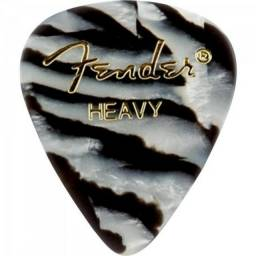 12 Palhetas Violão Fender Heavy Premium 0,96 Mm Fender Usa
