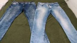 2 calças jeans masculino.