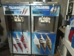 Vemdo maquina de sorvete