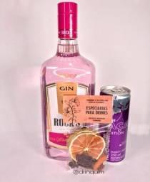 Kit Gin Rocks Strawberry + Redbull + Especiaria