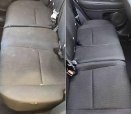 Higienização interna automotiva