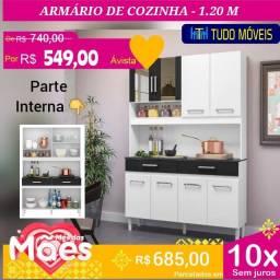 PROMOÇÃO DAS MÃES / COZINHA COMPACTA 08 PORTAS